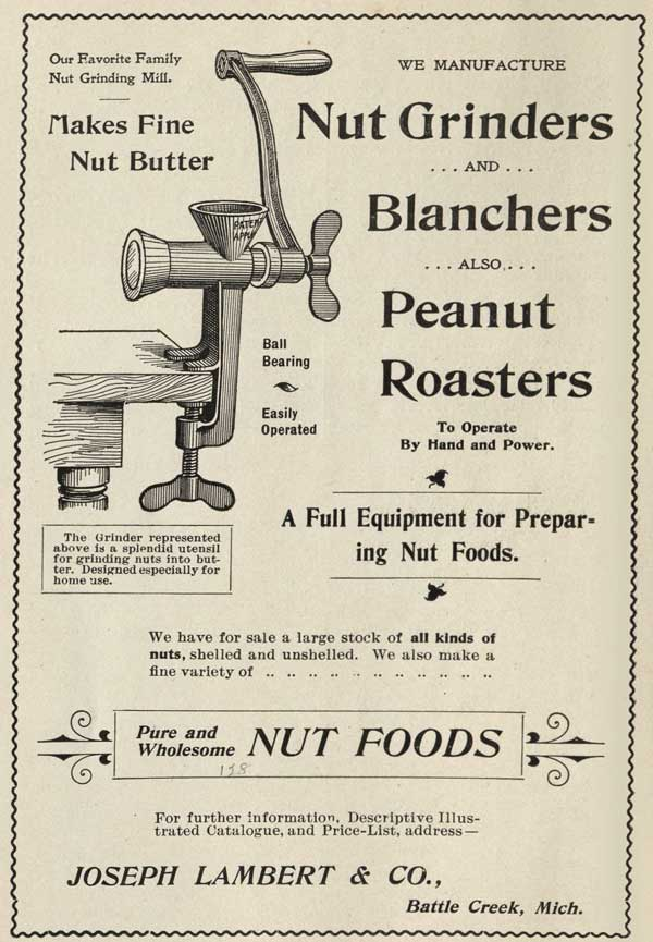Advertisement from A Guide for Nut Cookery