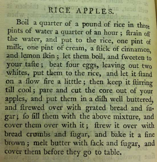 Rice Apples Recipe