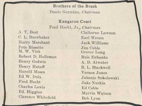 Roster of the Brothers of the Brush