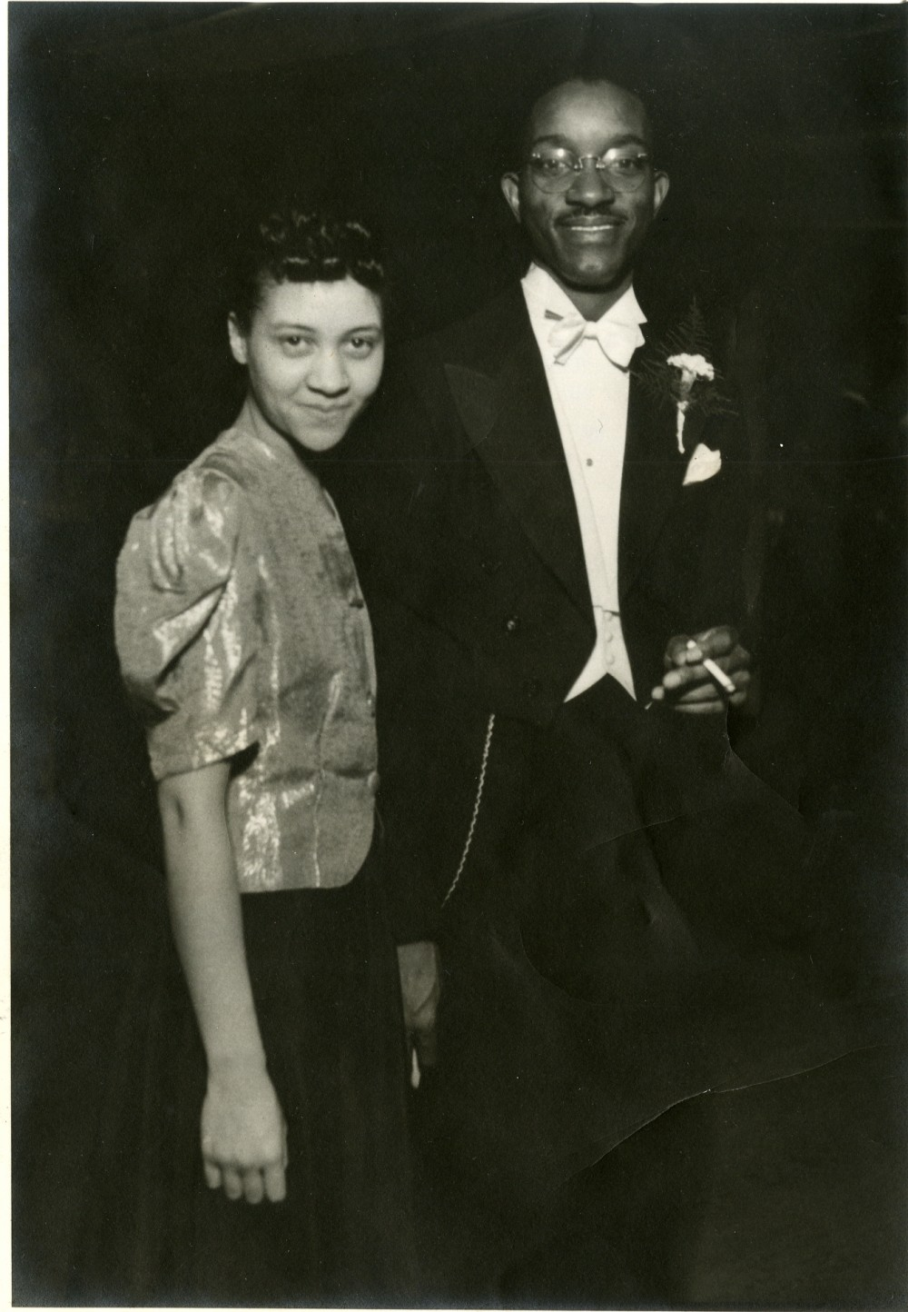 John Hope and Aurelia Franklin attend a banquet in Durham, NC, 1940s