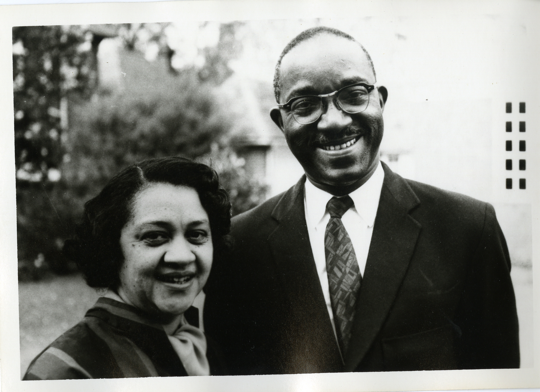 John Hope and Aurelia Franklin in Cambridge, England,1962