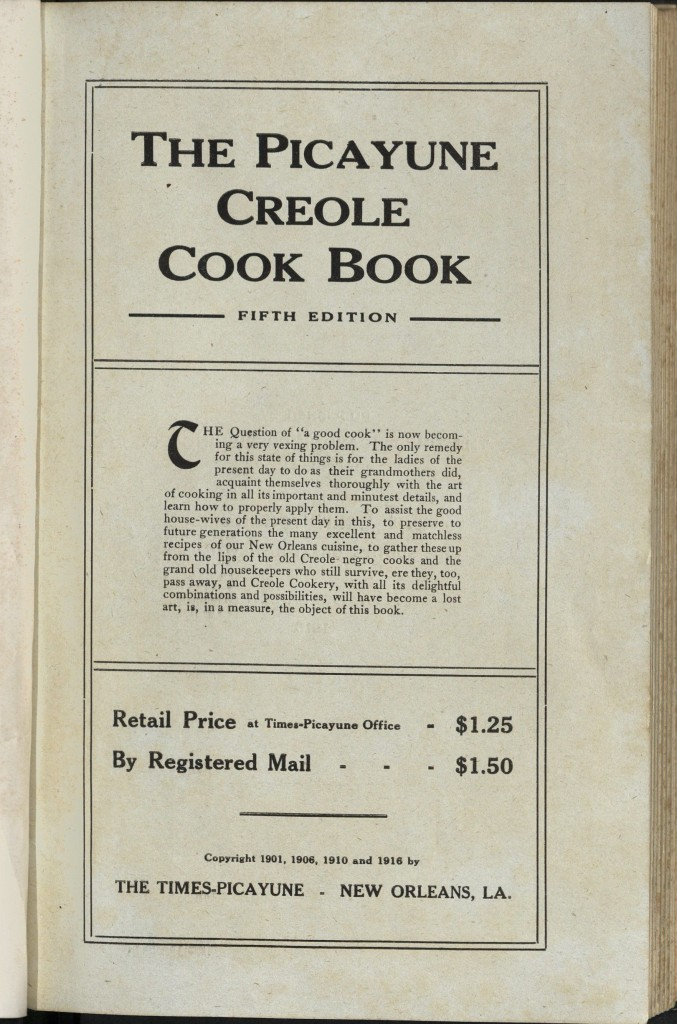 picayune cookbook