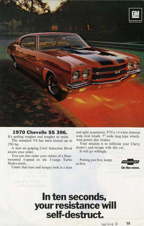 Chevrolet Chevelle advertisement