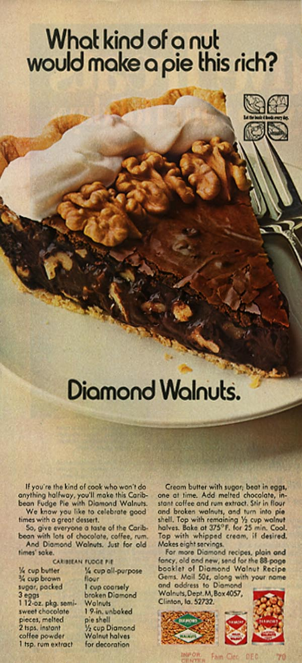 Diamond Walnuts advertisement