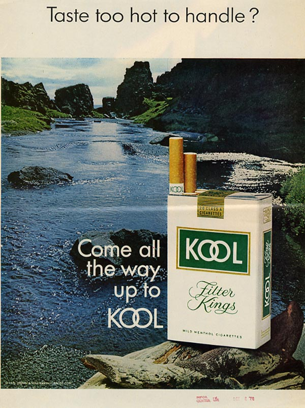 Kool Cigarettes advertisement