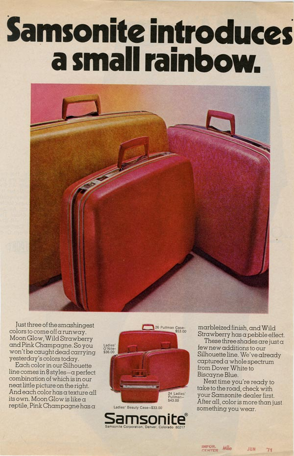 Samsonite advertisement