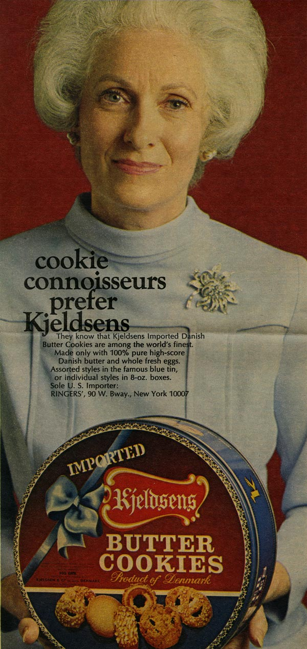 Kjeldsens Cookie Tin advertisement