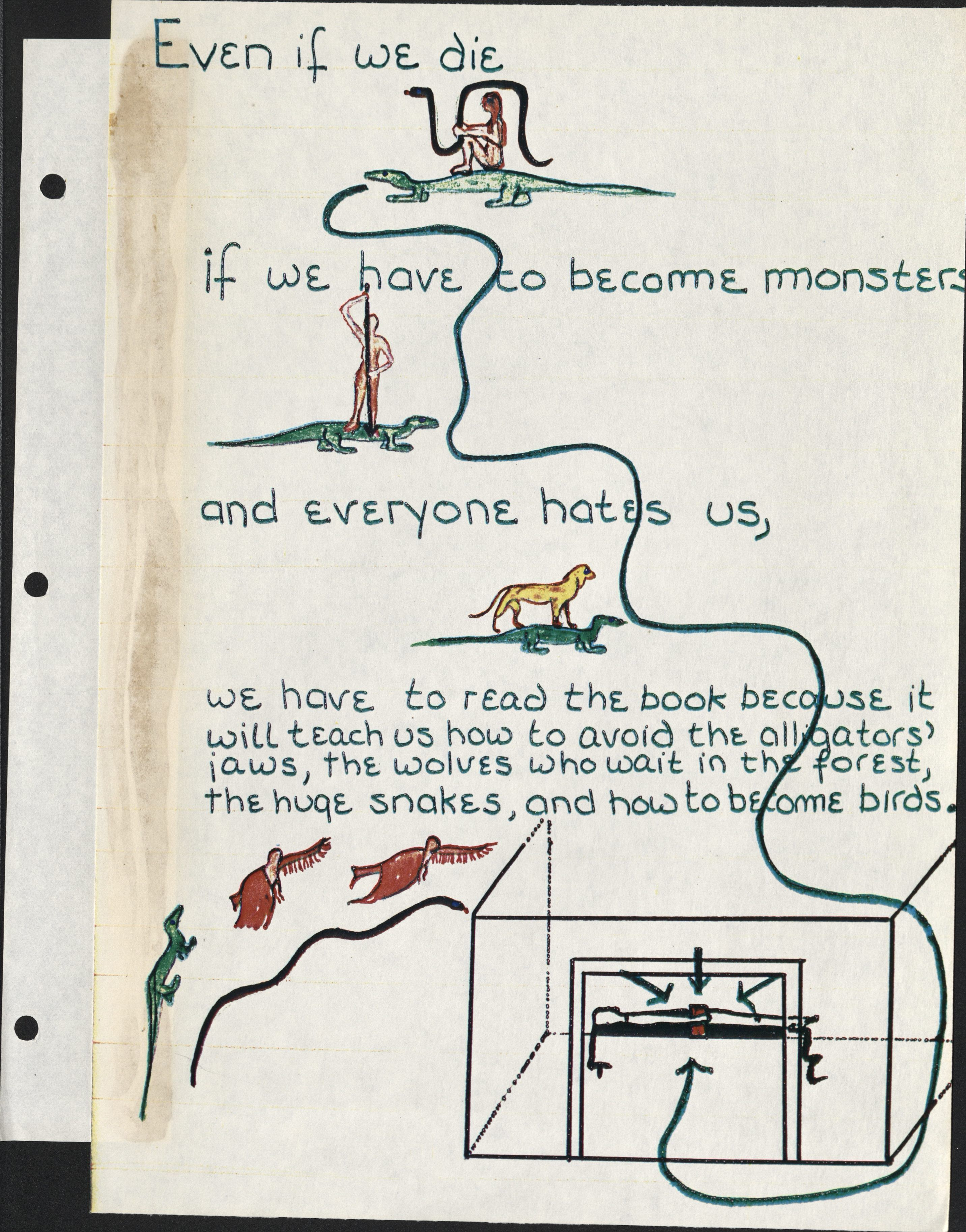 Image from manuscript for Blood and Guts in High  School by Kathy Acker