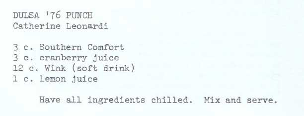 Recipe for DULSA Punch