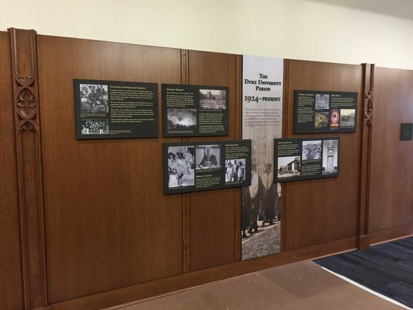 New exhibit on Duke University history!
