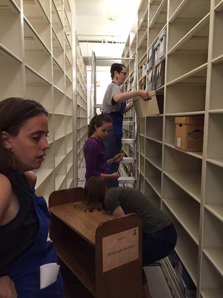 University Archives staff bucket brigade!