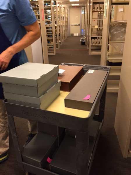 Moving HOM's medical instruments.