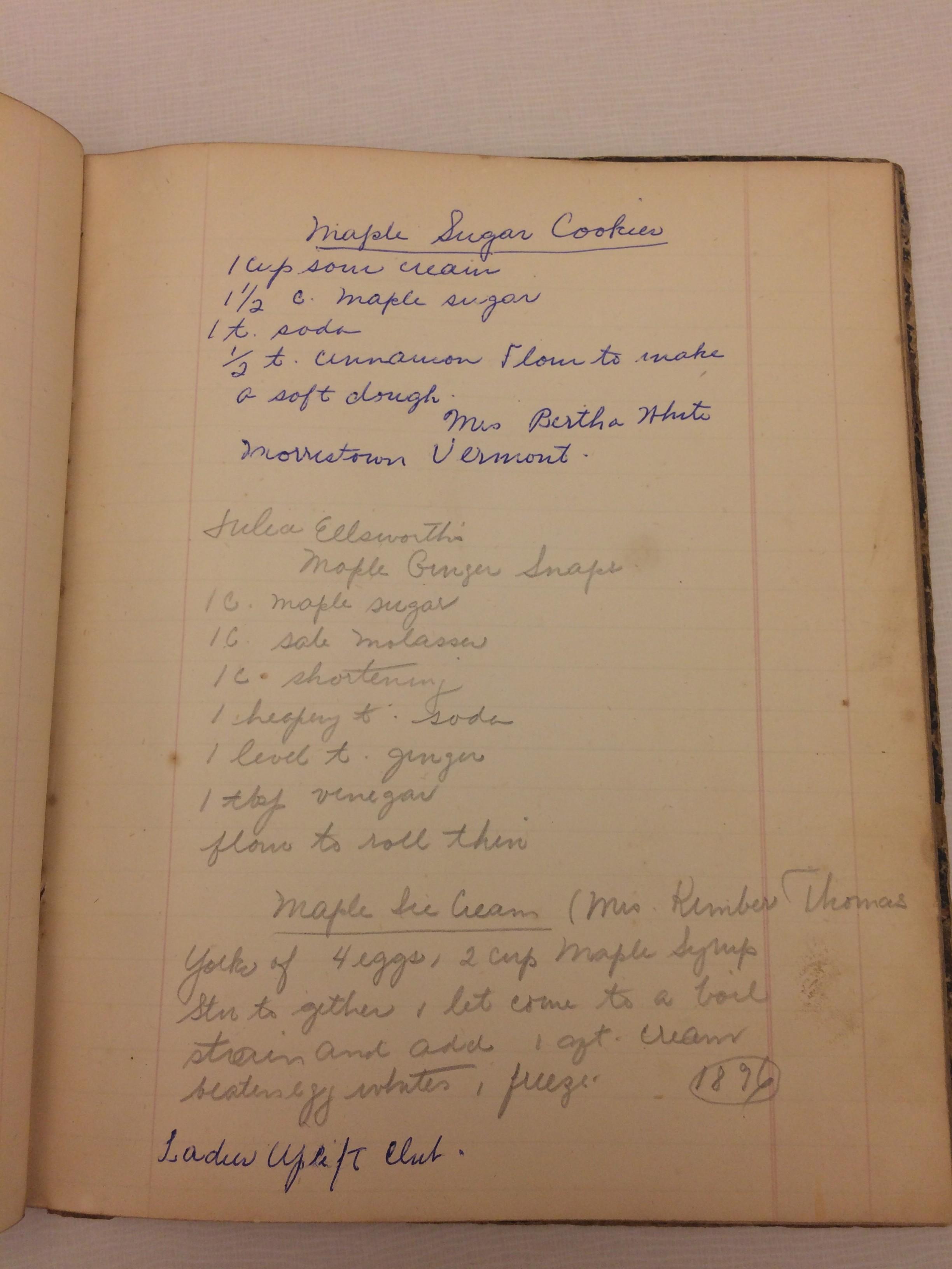 19th Century Maple Ice Cream Rubenstein Library Test