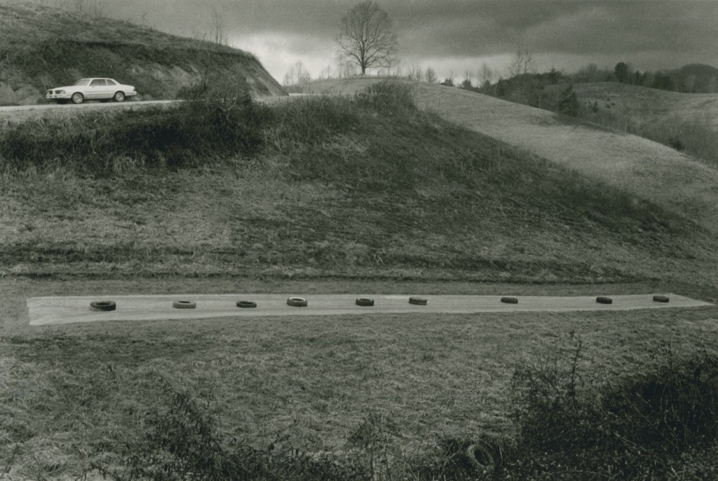 Isaac Gunter's tobacco bed and cemetery, 1982. Copyright, Rob Amberg.