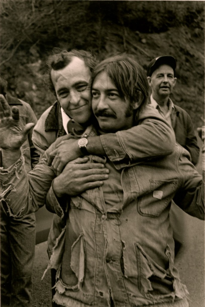 Joe Ross Chandler and Bobby Cantrell, 1977. Copyright, Rob Amberg.