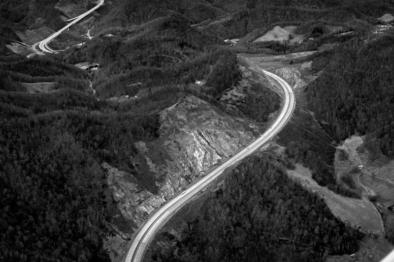I-26 at Buckner Gap, Madison County, N.C. 2008. Copyright, Rob Amberg.