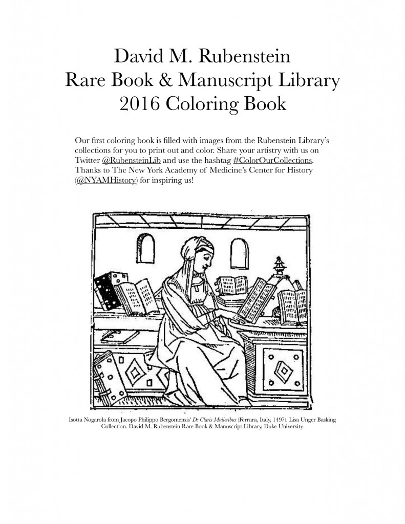 rubenstein library coloring book for colorourcollections the