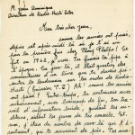 Frankétienne's letter to Jean Dominique page 1