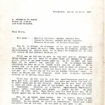 Letter from Mezilia Solivert, Vernilia Vernet, and Matania Nicaisse to the Minister of Justice, written in collaboration with the Ligue des Anciennes Prisonniers Politiques Haïtiens (LAPPH)