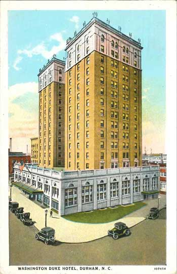 Postcard of the Washington Duke Hotel.