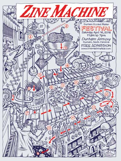 Zine Machine #2 poster by Pat Moriarity.