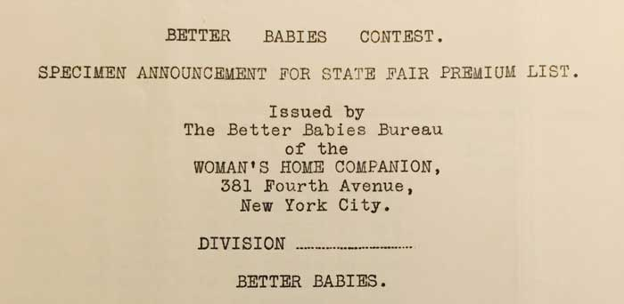 Announcement for Better Babies Contest.