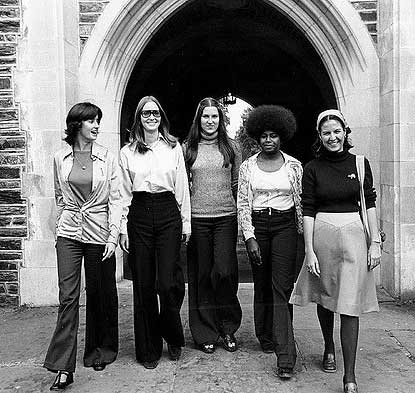 Five Women at Duke University, 1976. From the University Archives Photograph Collection.