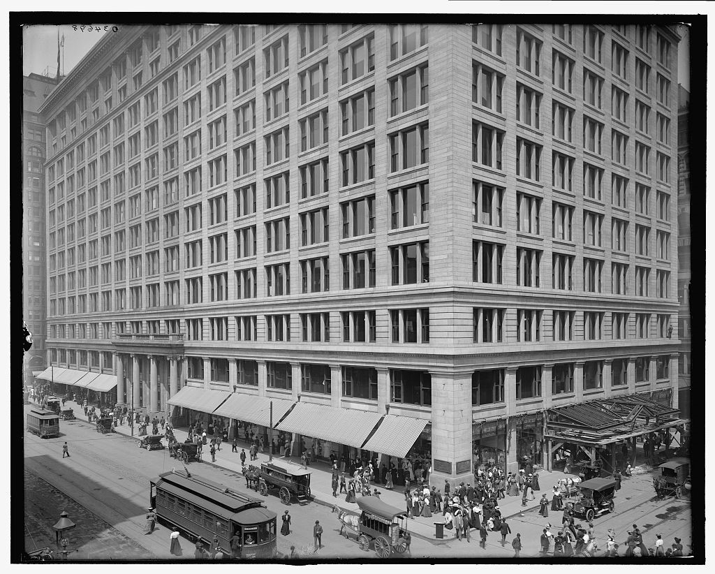 Black and White Photograph of Exterior of Marshall Field's Chicago Store