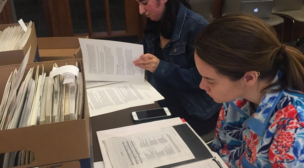 Students in Stewart's HIV/AIDS Narratives explore the de Bruyn papers.