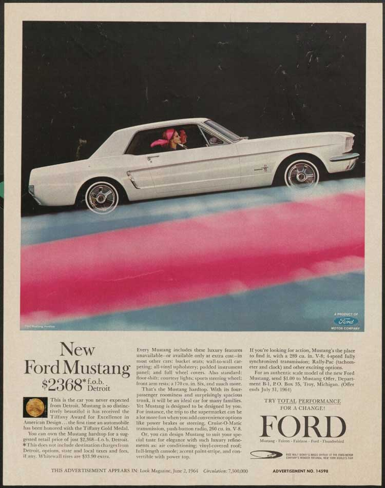Ford Mustang ad, 1964