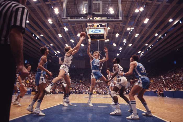 UNC-Chapel Hill vs. Duke Men's Basketball Game, January 1978.