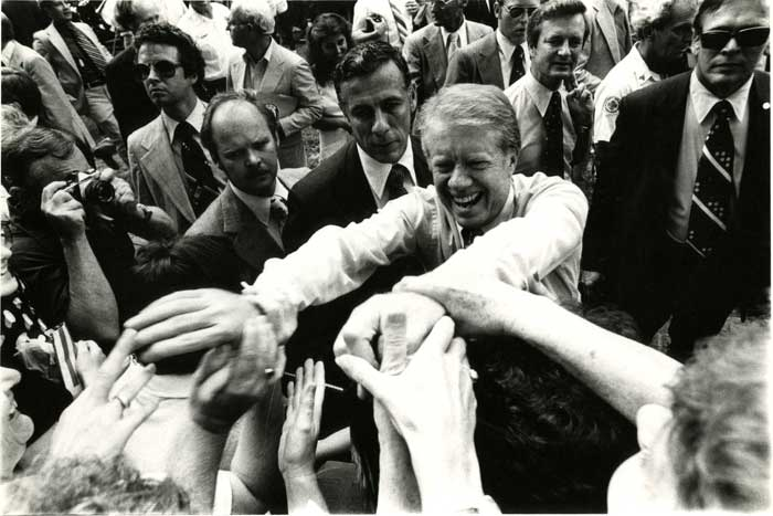 Jimmy Carter at a 1976 Presidential Debate on the campus of the College of William and Mary.