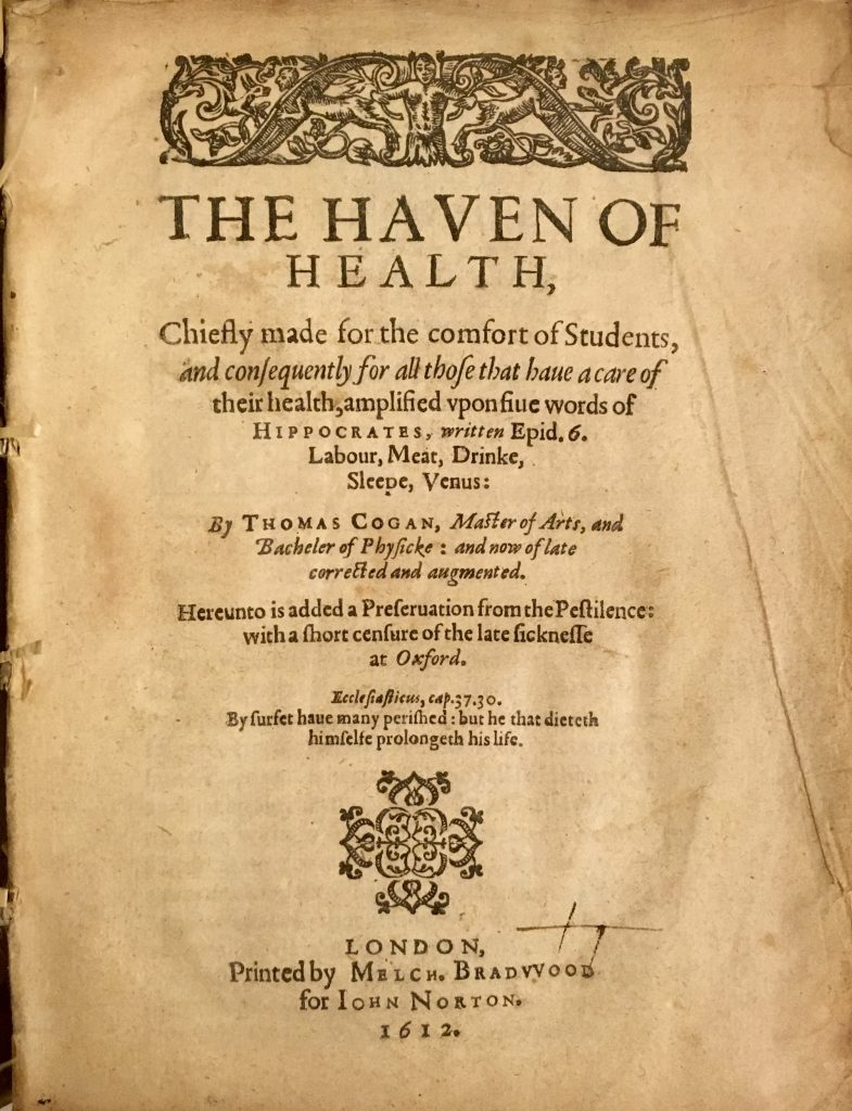 "Photograph of the title page of the book ""The Haven of Health"""