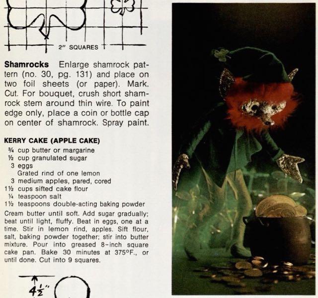 """Photograph of original """"Kerry Cake"""" recipe"""