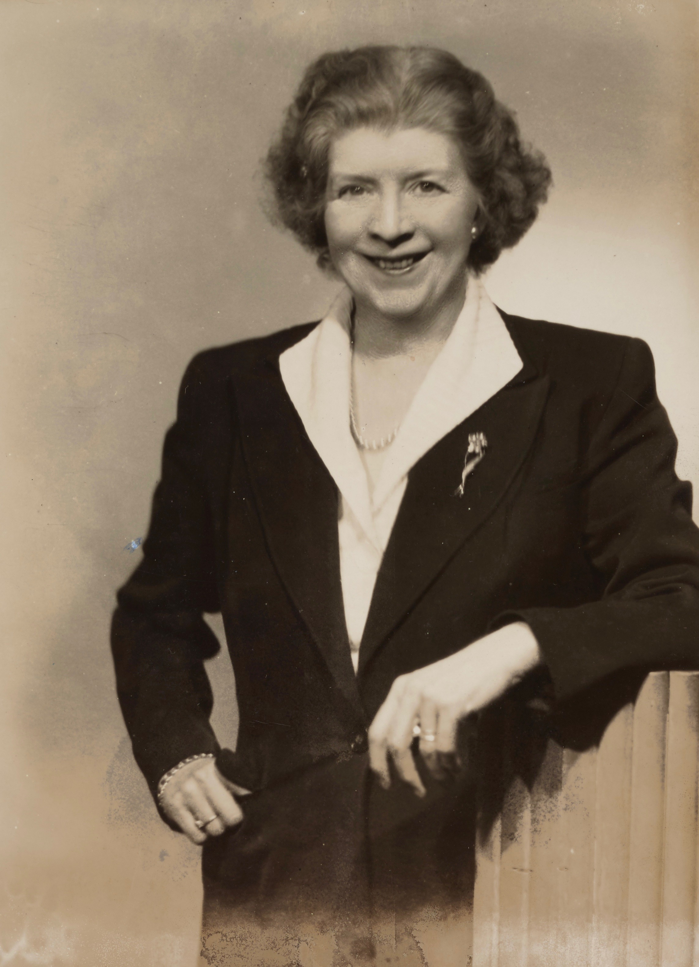 Black and white photograph portrait of Margaret Fishback