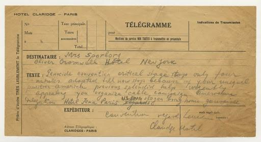 scan of handwritten draft of telegram