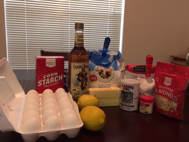 Photograph of recipe ingredients