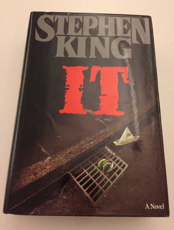 "Photo of our limited edition copy of Stephen King's ""IT."""