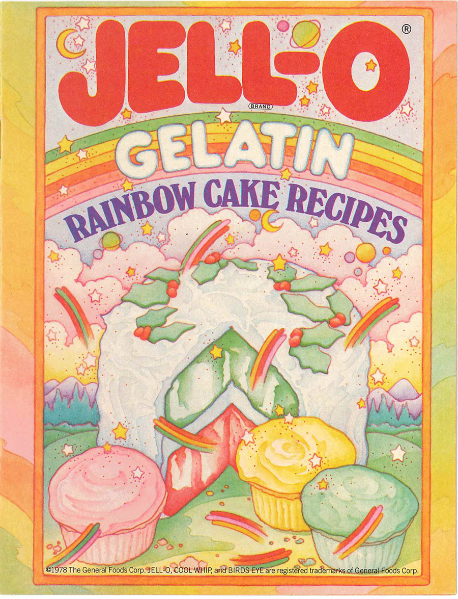 "Cover of ""Jell-O Gelatin Rainbow Cake Recipes"""