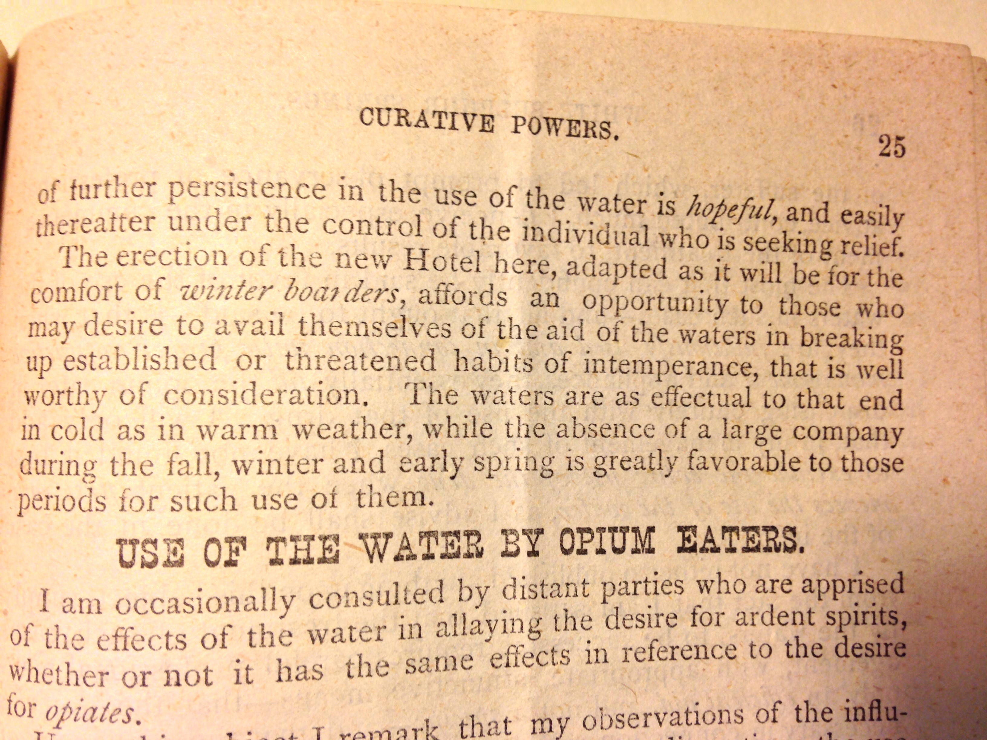 "Paragraph titled ""Use of the Water b Opium Eaters"""