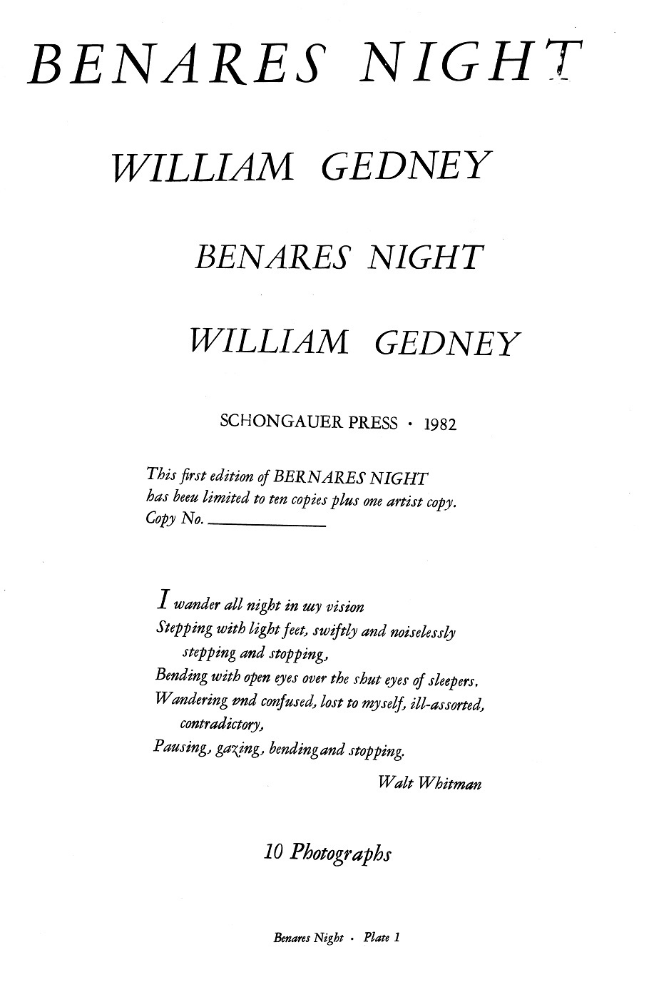"Whitman quote of ""I wander all nigh in my vision"""
