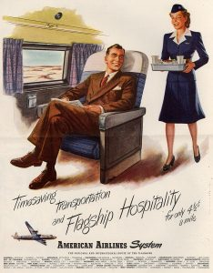 1946 magazine advertisement for american airlines