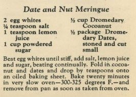 Date and Nut Meringue Recipe