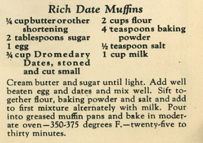 Recipe for Rich Date Muffins