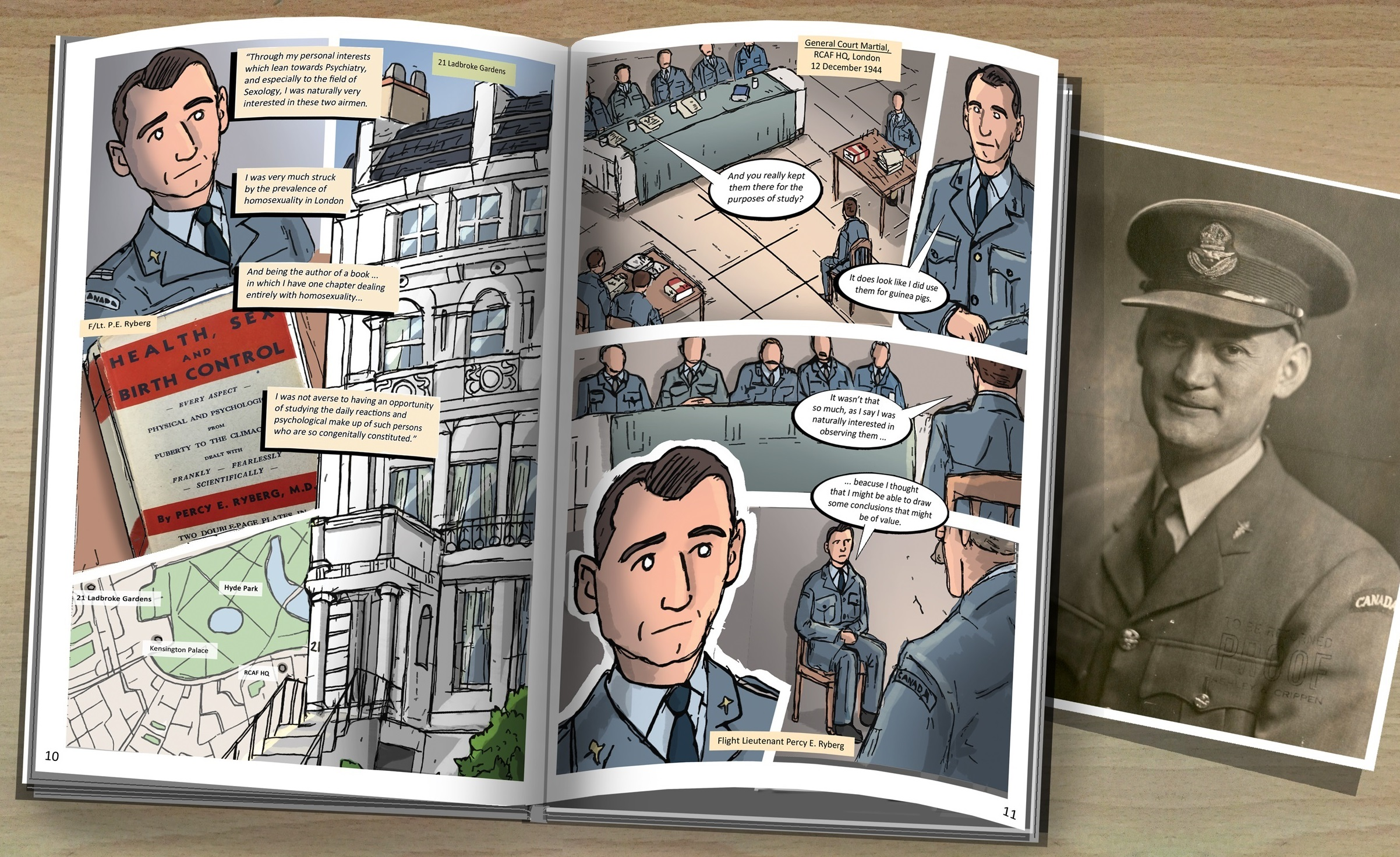comic book showing Dr. Ryberg