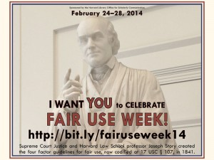 Harvard announces Fair Use Week with an homage to Justice Joseph Story, who originated the concept in 1841
