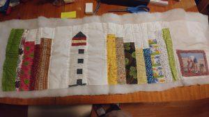 Deb's bookshelf quilt in progress