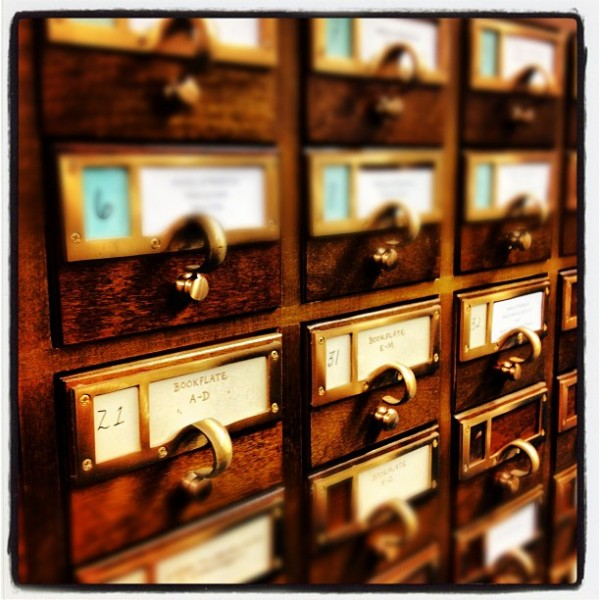 Card Catalog in the Rubenstein Library.