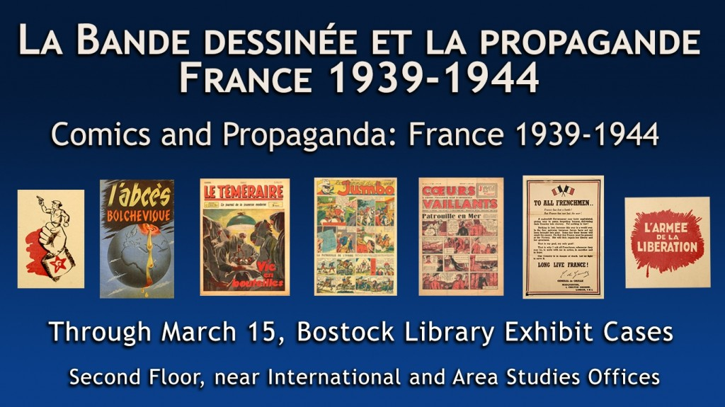 French Comics and Propaganda Exhibit