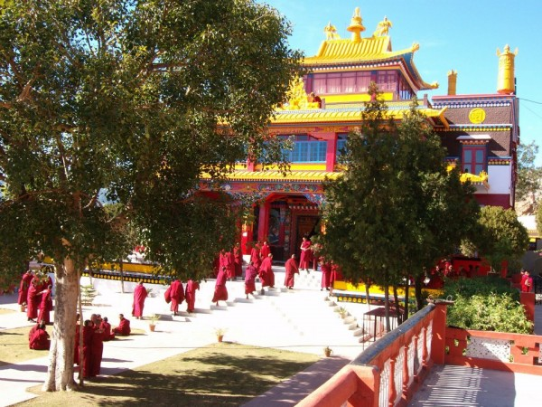Menri Monastery in Northern India possesses the world's largest collection of manuscripts relating to Bön, the pre-Buddhist religion of Tibet.